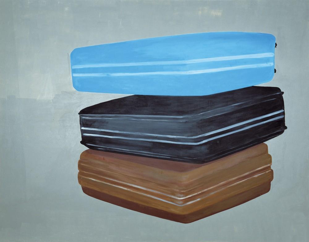 Valises, Luc Andrié, 2002, acrylique sur toile, Collection Frac LR