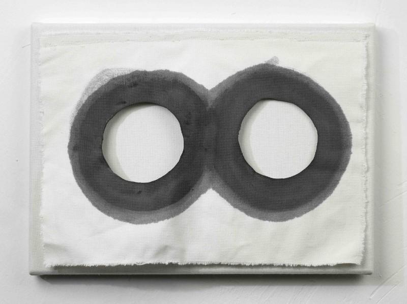Ring, Patrick Sauze, 2012, acrylique sur toile, 24 x 33 cm, Photo Vincent Ruffe, Courtesy Galerie Jacques Girard