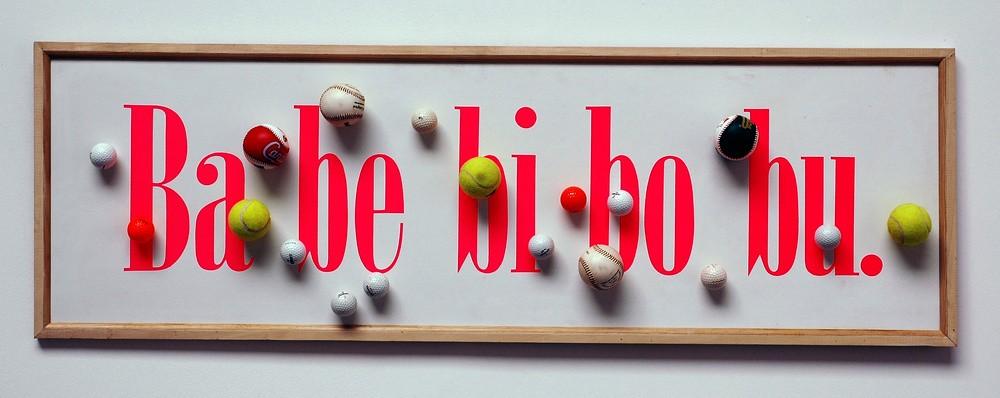 Ba be bi bo bu, de la série Ex-voto, 1993