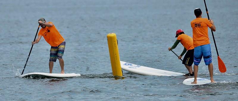 Etang de Thau, Course de paddle. Photo Belkacem Boudjellouli
